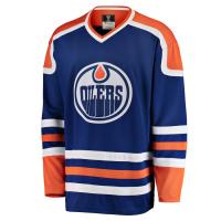 Edmonton Oilers nhl fanatics heritage хоккейный свитер синий