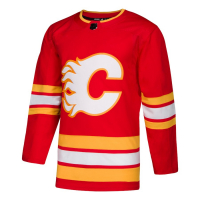 Calgary Flames nhl adidas authentic alternate хоккейный свитер красный