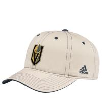 Vegas Golden Knights nhl adidas coaches хоккейная бейсболка светло-бежевая
