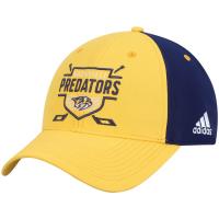 Nashville Predators nhl adidas coaches хоккейная бейсболка желто-синяя