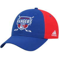 New York Rangers nhl adidas coaches хоккейная бейсболка красно-синяя