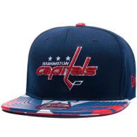 Washington Capitals nhl new era snapback хоккейная кепка с прямым козырьком синяя