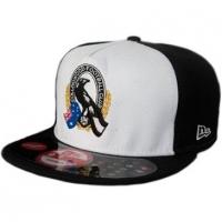 Collingwood Football Club afl new era snapback спортивная кепка черно-белая