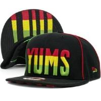 YUMS new era snapback кепка с прямым козырьком черная