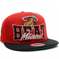 Miami Heat nba new era snapback спортивная кепка черно-красная
