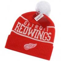 Detroit Red Wings nhl mitchell & ness спортивная шапка с помпоном красная