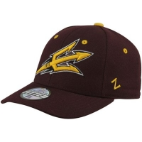 Arizona State Sun Devils ncaa zephyr fitted спортивная бейсболка коричневая