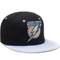 Кепка Tampa Bay Lightning nhl tisa snapback хоккейная с прямым козырьком черная