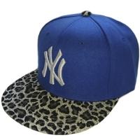 New York Yankees mlb NY sapback кепка с леопардовым козырьком синяя