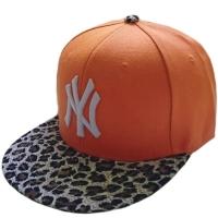 New York Yankees mlb NY sapback кепка с леопардовым козырьком оранжевая