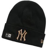 New York Yankees mlb new era NY bronze шапка с отворотом черная