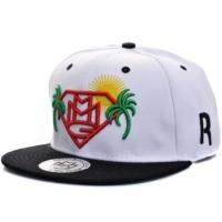 MMG snapback рэперская кепка с прямым козырьком белая