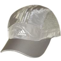 Adidas спортивная летняя бейсболка с сеткой серая