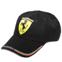 Ferrari спортивная бейсболка черная