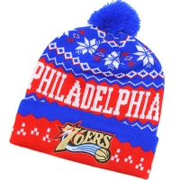 Philadelphia 76ers nba new era спортивная шапка с помпоном красно-синяя