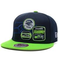 Seattle Seahawks nfl new era snapback спортивная кепка салатово-синяя