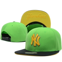 New York Yankees mlb new era NY snapback спортивная кепка черно-зеленая