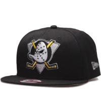 Anaheim Mighty Ducks nhl new era snapback кепка с прямым козырьком черная
