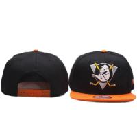 Anaheim Mighty  Ducks nhl new era snapback хоккейная кепка с прямым козырьком черно-оранжевая