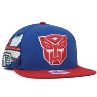 Autobots трансформеры new era snapback кепка с прямым козырьком красно-синяя