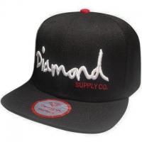 Diamond snapback рэперская кепка с прямым козырьком черная