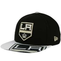 Кепка Los Angeles Kings nhl new era snapback хоккейная с прямым козырьком черная