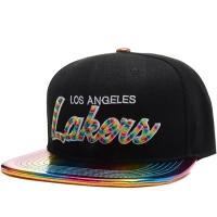 Los Angeles Lakers nba mitchell & ness snapback спортивная кепка черно-цветная