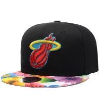 Miami Heat nba mitchell & ness snapback кепка с цветным козырьком черная