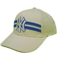 New York Yankees mlb NY бейсболка спортивная светло-бежевая