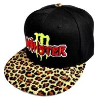 Monster Energy snapback кепка с прямым леопардовым козырьком черная