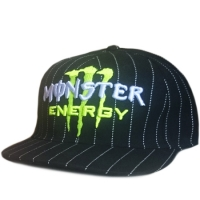 Monster Energy fitted спортивная кепка с прямым козырьком полосатая черная