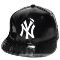 New York Yankees mlb NY snapback кепка с прямым козырьком глянцевая черная