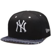 Кепка New York Yankees mlb new era NY snapback спортивная с прямым козырьком черная