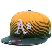 Oakland Athletics mlb new era snapback спортивная кепка зелено-желтая