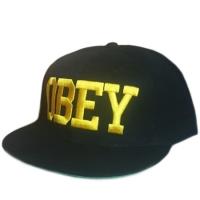 OBEY snapback кепка с прямым козырьком желто-черная