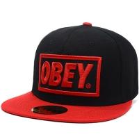 OBEY snapback кепка с прямым козырьком черно-красная