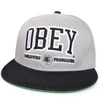 OBEY snapback кепка с прямым козырьком серая
