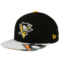 Pittsburgh Penguins nhl new era snapback хоккейная кепка черная