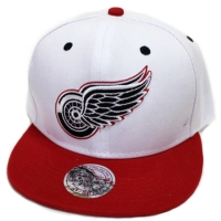 Detroit Red Wings nhl mitchell & ness snapback кепка белая