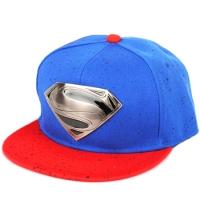 Superman snapback silver metal кепка с прямым козырьком сине-красная