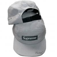 Supreme snapback кепка с прямым козырьком серая