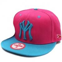 YMCMB snapback кепка рэперская с прямым козырьком розовая