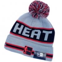 Miami Heat nba new era спортивная шапка с помпоном серая