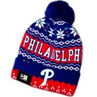Philadelphia Phillies mlb new era спортивная шапка с помпоном красно-синяя