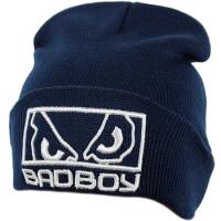 BadBoy спортивная шапка зимняя с отворотом темно-синяя
