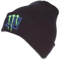Monster Energy DC shoes спортивная зимняя шапка с отворотом черная