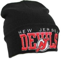 New Jersey Devils nhl new era шапка зимняя с отворотом черная