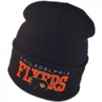 Philadelphia Flyers nhl new era шапка зимняя с отворотом черная