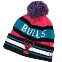 Chicago Bulls nba new era шапка с помпоном цветная