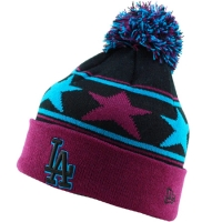 Los Angeles Dodgers mlb new era LA stars шапка с помпоном цветная